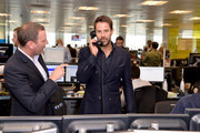 Jamie Redknapp representing Wellbeing of Women, makes a trade at the GFI Charity Day to commemorate the 658 employees who perished on September 11, 2001 in the World Trade Center attacks on September 11, 2019 in London, England.