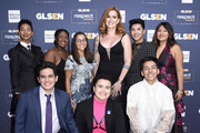 (L-R) Elle Smith, Matthew Yekell, Ayana Boyd, Jessica Chiriboga, El Martinez, Our Lady J, Darid Prom, Eric Samelo, and Soli Guzman attend the GLSEN Respect Awards Los Angeles at the Beverly Wilshire Four Seasons Hotel on October 25, 2019 in Beverly Hills, California.
