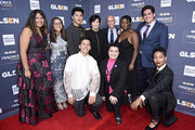 (L-R top) Soli Guzman, Jessica Chiriboga, Darid Prom, Marilyn Katzenberg, Jeffrey Katzenberg, Ayana Boyd and Matthew Yekell. (L-R bottom) Eric Samelo, El Martinez and Elle Smith attend the GLSEN Respect Awards Los Angeles at the Beverly Wilshire Four Seasons Hotel on October 25, 2019 in Beverly Hills, California.