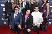 (L-R) Elle Smith, Ayana Boyd, Matthew Yekell, Jessica Chiriboga, Bert Salke, El Martinez, Soli Guzman, Jennifer Salke, Eric Samelo, Darid Prom, and Soli Guzman attend the GLSEN Respect Awards Los Angeles at the Beverly Wilshire Four Seasons Hotel on October 25, 2019 in Beverly Hills, California.