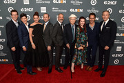 (L-R) Sean Hayes, Elizabeth Gabler, Debra Messing, Max Mutchnick, David Kohan, Norman Lear, Megan Mullally, Eric McCormack, and Howard Schultz attend the GLSEN Respect Awards at the Beverly Wilshire Four Seasons Hotel on October 19, 2018 in Beverly Hills, California.
