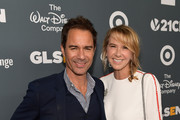 Eric McCormack (L) and Janet Holden attend the GLSEN Respect Awards at the Beverly Wilshire Four Seasons Hotel on October 19, 2018 in Beverly Hills, California.