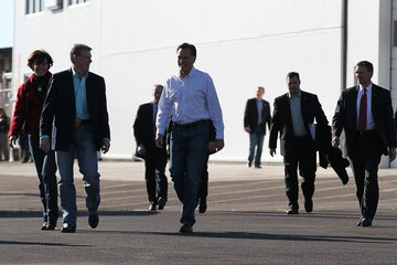 Butch Otter GOP Presidential Candidate Mitt Romney Campaigns In Nevada Ahead Of State's Primary