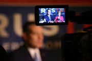 Republican presidential candidate Sen. Ted Cruz (R-TX) and his Vice Presidential candidate, former Hewlett-Packard chief executive Carly Fiorina, speak with the media before participating in a taping of Fox News Channel's The Sean Hannity Show at the Indiana War Memorial on April 29, 2016 in Indianapolis, Indiana. Cruz continues to campaign leading up to the state of Indiana's primary day on Tuesday.