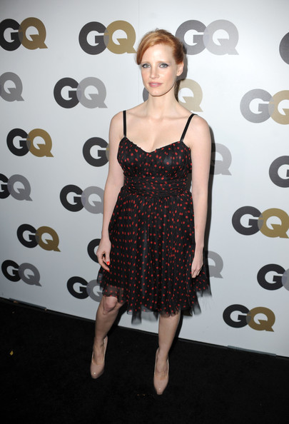 "Actress Jessica Chastain arrives at the 15th annual ""GQ Men of the Year"" party held at Chateau Marmont on November 17, 2010 in Los Angeles, California."