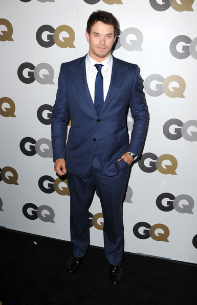 "Actor Kellan Lutz arrives at the 15th annual ""GQ Men of the Year"" party held at Chateau Marmont on November 17, 2010 in Los Angeles, California."