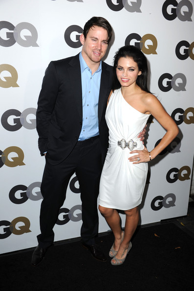 "(L-R) Actors Channing Tatum (L) and Jenna Dewan   arrive at the 15th annual ""GQ Men of the Year"" party held at Chateau Marmont on November 17, 2010 in Los Angeles, California."