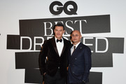 Luke Evans and Giovanni Audiffredi attend the GQ Best Dressed Men 2019 during Milan Menswear Fashion Week Autumn/Winter 2019/20 on January 11, 2019 in Milan, Italy.