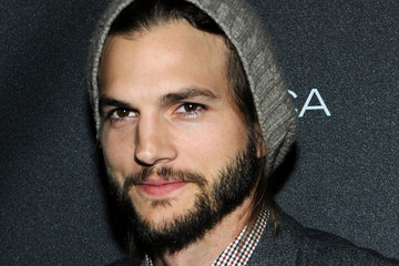 Ashton Kutcher Beanie Ashton Kutcher  Getty