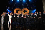 NO ONLINE AND MOBILE APP USAGE IN GERMANY, AUSTRIA, SWITZERLAND UNTIL 1 MONTH AFTER CREATION DATE) (EXCLUSIVE ACCESS. PREMIUM RATES APPLY) Award winners pose on stage at the GQ Men of the year Award 2015 show (german: GQ Maenner des Jahres 2015) at Komische Oper on November 5, 2015 in Berlin, Germany.