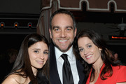 (L-R) Actress Shiri Appleby, Michael Sugar and actress Robin Tunney attend GREY GOOSE Pre-Oscar Party at Sunset Tower on March 1, 2014 in West Hollywood, California.