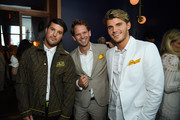 (L-R) Honoree Andrew Warren, Thomas E. Pierce II and Twan Kuyper attend Gabrielle's Angel Foundation's Young Professional Committee Hosts Midsummer Angel Gala at The Fleur Room on June 24, 2019 in New York City.
