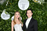 Vlada Roslyakova and Dimitry Sholokhov attend Gabrielle's Angel Foundation's Young Professional Committee Hosts Midsummer Angel Gala at The Fleur Room on June 24, 2019 in New York City.
