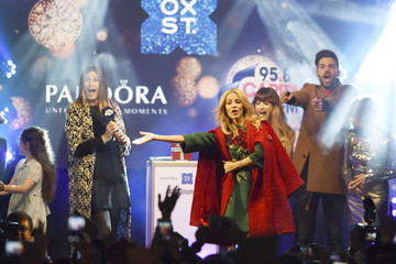 Gabrielle Aplin Ben Haenow Kylie Minogue Switches on the World Famous Oxford Street Christmas Lights with Pandora
