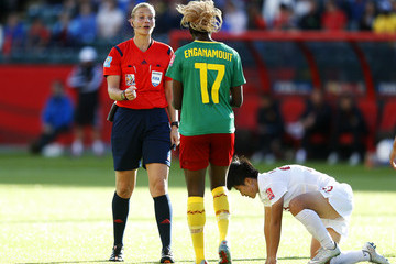 Gaelle Enganamouit China v Cameroon: Round of 16 - FIFA Women's World Cup 2015