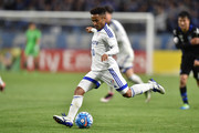 Santos of Suwon Samsung Bluewings FC in action during the AFC Champions League Group G match between Gamba Osaka and Suwon Samsung Blue Wings at the Suita City Football Stadium on April 19, 2016 in Suita, Japan.