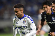 Santos of Suwon Samsung Bluewings FC runs with the ball during the AFC Champions League Group G match between Gamba Osaka and Suwon Samsung Blue Wings at the Suita City Football Stadium on April 19, 2016 in Suita, Japan.