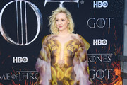 """Gwendoline Christie attends the """"Game Of Thrones"""" Season 8 Premiere on April 03, 2019 in New York City."""