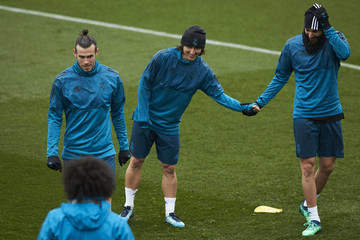 Gareth Bale Real Madrid Training and Press Conference