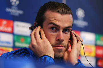 Gareth Bale Real Madrid Training Session and Press Conference