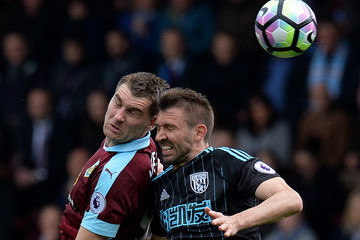 Gareth Mcauley Burnley v West Bromwich Albion - Premier League