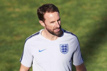 Gareth Southgate England Training Session And Press Conference