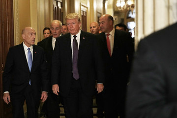Gary Cohn Trump Meets With House Republicans on Capitol Hill to Discuss Tax Reform Bill