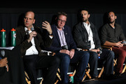"""PepsiCo Beverages Latin America SVP / CMO Ricardo Arias-Nath, VP & GM Sports Nutrition and Juice, Global Beverage Group Mark Kirkham, and filmmakers Michael and Jeff Zimbalist attend the Gatorade premiere of the docu-series, """"Cantera 5v5"""" during the Tribeca TV Festival on Saturday, September 14, 2019 in New York City."""