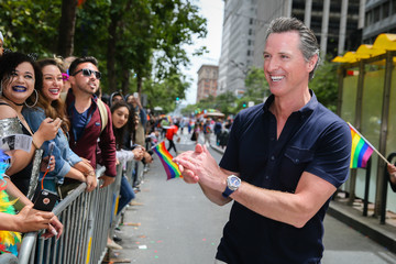 Gavin Newsom San Francisco Hosts Annual Its Gay Pride Parade