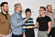 "(L-R) Michael Turchin, Lance Bass, Constance Zimmer, Tyler Oakley, and Gus Kenworthy attend the ""Gay Chorus Deep South"" screening during the 2019 Tribeca Film Festival at Spring Studios on April 29, 2019 in New York City."