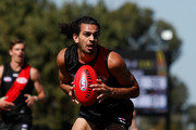 Jake Long of the Bombers in action during the AFL 2018 JLT Community Series match between the Geelong Cats and the Essendon Bombers at Central Reserve on March 11, 2018 in Colac, Australia.