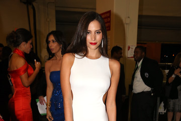 Genesis Rodriguez Backstage at the Latin Grammy Awards