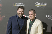 Seth Gabel and T.R. Knight attend 'Genius Picasso' premiere at Cervantes Theatre on March 22, 2018 in Malaga, Spain.