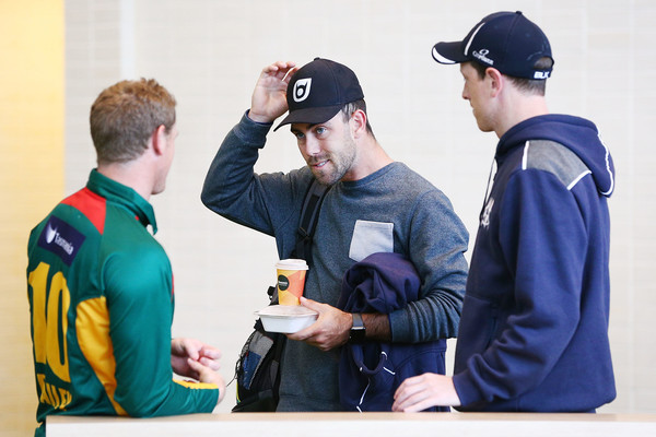 JLT One Day Cup Final Media Opportunity [recreation,photography,competition event,championship,coach,games,george bailey,victoria,glenn maxwell,media opportunity,media opportunity,tasmania,citipower centre,jlt,l,cup final]