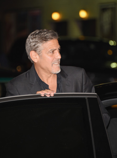 George Clooney leaving the late show Stephen Colbert 8th September 2015 George+Clooney+Celebrities+Attend+First+Taping+u147_XPXLlQl