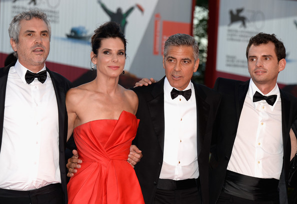 George Clooney and Sandra Bullock at the evening premiere of Gravity at Venice Film Festival George+Clooney+Gravity+Premieres+Venice+8odCovRGzSpl