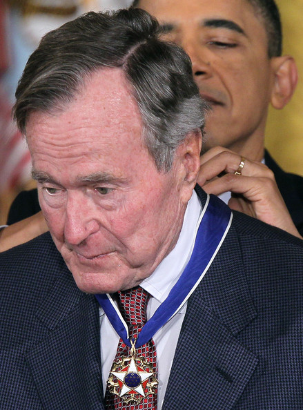George H. W. Bush - President Obama Honors Medal Of Freedom Recipients