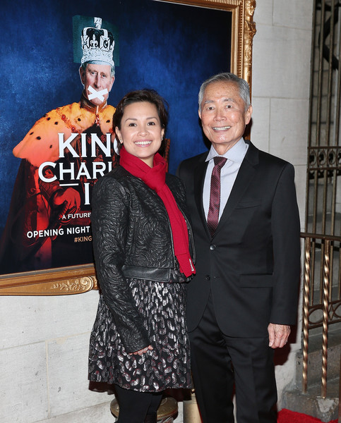 'King Charles III' Broadway Opening Night - Arrivals and Curtain Call [suit,event,fashion,formal wear,tuxedo,opening night - arrivals,charles iii,lea salonga,george takai,curtain call,music box theatre,new york city,broadway,broadway opening night]
