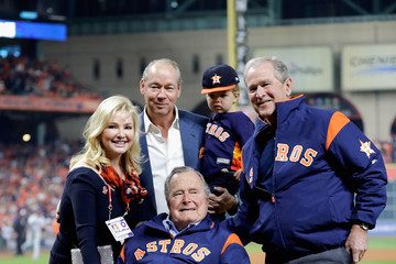 George W Bush World Series - Los Angeles Dodgers v Houston Astros - Game Five