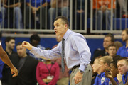 Head coach Billy Donovan of the Florida Gators instructs during the second half against Georgia Bulldogs at Stephen C. O'Connell Center on January 14, 2014 in Gainesville, Florida.