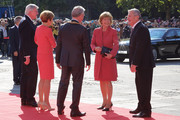 German President Joachim Gauck and Daniela Schadt arrive for events to celebrate the 25th anniversary of German reunification on October 3, 2015 in Frankfurt, Germany. On October 3, 1990, following the end of the Cold War, western-oriented, capitalist and democratic West Germany and post-revolution, formerly communist East Germany reunited into a single state after 41 years of official separation. Though the integration of the two former states into one is seen by most as a success, differences remain, particularly in average incomes and pensions, which in eastern Germany are lower.