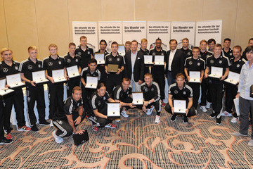 Philipp Lahm Joachim Loew Germany Football Squad Members Presented With IWC Wristwatches