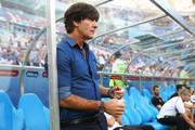 Joachim Loew, coach of Germany looks on during the FIFA Confederations Cup Russia 2017  Group B match between Germany and Cameroon at Fisht Olympic Stadium on June 25, 2017 in Sochi, Russia.
