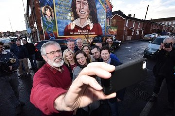 Gerry Adams Sinn Fein Holds a Press Conference Post Northern Ireland Assembly Elections