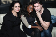 (L-R) Account Executive at Getty Images Rosa DiSalvo, Delaina Dixon and Rob Shuter attend Getty Images Customer Appreciation, NYC at No. 8 on October 22, 2014 in New York City.