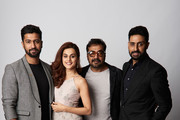 Actors Vicky Kaushal, Tapsee Pannu, filmmaker Anurag Kashyap and actor Abhishek Bachchan from the film 'Husband Material' pose for a portrait during the 2018 Toronto International Film Festival at Intercontinental Hotel on September 11, 2018 in Toronto, Canada.