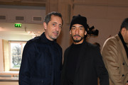 (EDITORIAL USE ONLY) Gad Elmaleh and Hidetoshi Nakata attend the Giambattista Valli show as part of the Paris Fashion Week Womenswear Fall/Winter 2020/2021 on March 02, 2020 in Paris, France.