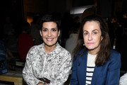 Cristina Cordula and Georgina Brandolini d'Adda attend the Giambattista Valli show as part of the Paris Fashion Week Womenswear Fall/Winter 2018/2019 on March 5, 2018 in Paris, France.