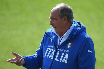 Giampiero Ventura Italy Training Session and Press Conference