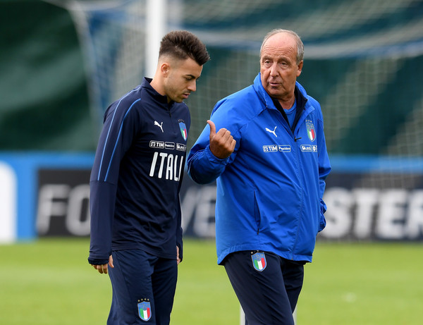 Italy Training Session [sports,team sport,player,ball game,sports equipment,sport venue,coach,grass,sports training,stadium,italy gian piero ventura,stephan el shaarawy,r,chat,italy,training ground,florence,club,italy training session,training session]